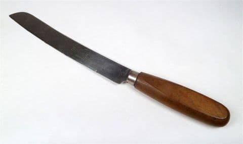 Vintage Kitchen Serrated Bread Knife Sheffield England Stainless Steel Wooden Wood Handle