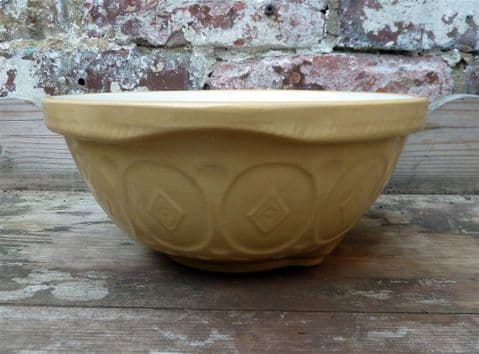 Vintage Kitchen T G Green Church Gresley England Patterned Mixing Bowl 1930s GripStand Patent 491517