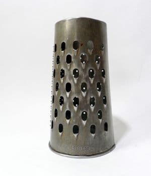 Vintage Kitchen Utensil Tool Round Steel 3 Panel Grater Registered Australia 1930s