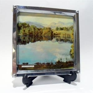 Vintage Kitchen Zimco Chrome Plate Loughrigg Tarn Cumbria Trivet Tea Pot Pan Stand 1950s Ball Feet