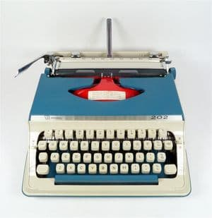 Vintage Litton Royal Imperial 202 Portable Manual Typewriter 70s Stunning Condition c/w Instructions