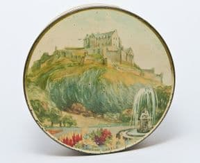 Vintage McVitie & Price Edinburgh Castle Scotland Sample Biscuit Tin Circa 1938