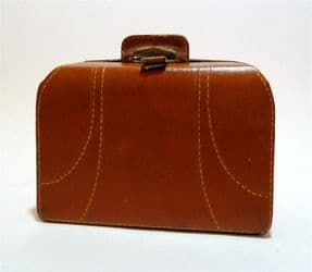 Vintage Medical Kit Miniature Suitcase Bag Leather Cased First Aid Set Contents Travel Doctors