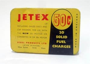 Vintage Model Tin Sebel Jetex 50C  20 Solid Fuel Charges Tin Circa 1950s Boat Car Plane Motor