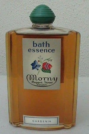 Vintage Morny Regent Street London Gardenia Bath Essence Circa 1930s 2 fl oz Net Sealed Full Unused