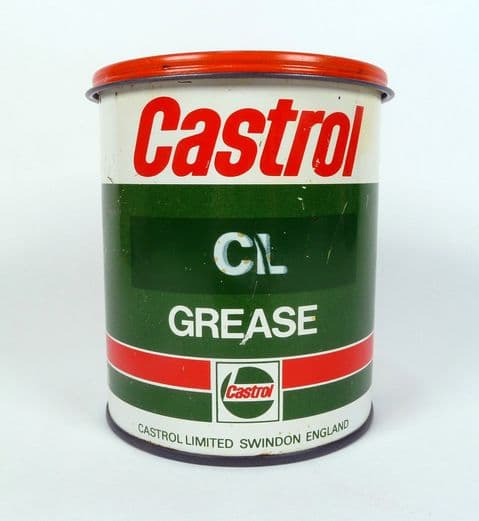 Vintage Motoring Garage Tin Castrol Limited Swindon CL Grease 500g Tin c/w Contents Castrolease