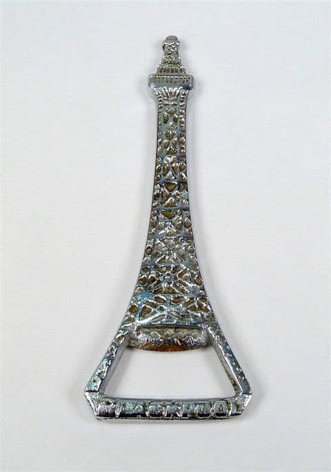 Vintage Nickel Plated Brass Blackpool Tower Crown Cork Bottle Opener Souvenir Rd No 8444318