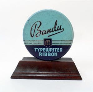 Vintage Office Desk Tin Bandu Brand Typewriter Ribbon Circa 1950s Imperial 70 Empty HTF