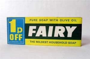 Vintage Packaging 2 Large Proctor & Gamble Fairy Household Soap Original Box 1970s 1p OFF Price