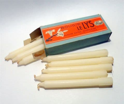 Vintage Packaging 8 Denis Company Bougie le Lys French Candles Original Box Nantes Gold Medal 1924