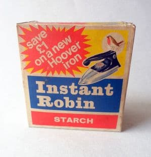 Vintage Packaging Instant Robin Starch Reckitts Hull Washing Laundry Hoover Iron Offer Box Full