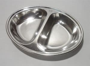 Vintage Peter Walker Hotels Elkington Sheffield Silver Plate Serving Dish Bowl Pet Food Dog Cat