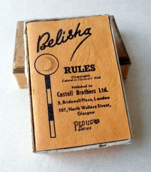 Vintage Playing Card Game Belisha Pepys Series Castell Brothers Ltd London & Glasgow Rule Book 1930s Rummy Road Safety Signs