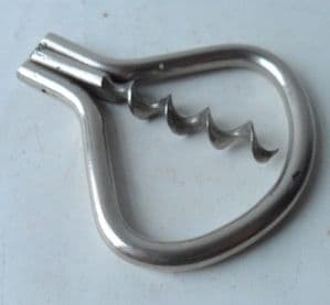 Vintage Pocket Corkscrew Folding Bow Corkscrew Circa 1950s Stamped Foreign