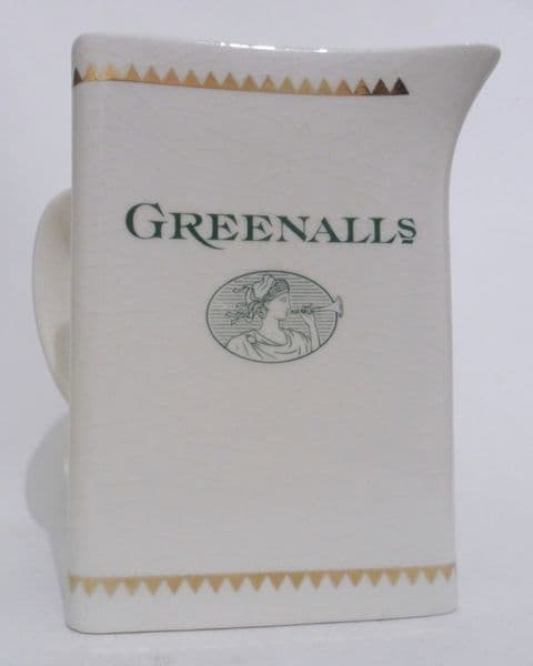 Vintage Pub Bar Greenall's Advertising Triangular Water Jug Crown Winsor England Circa 1980s