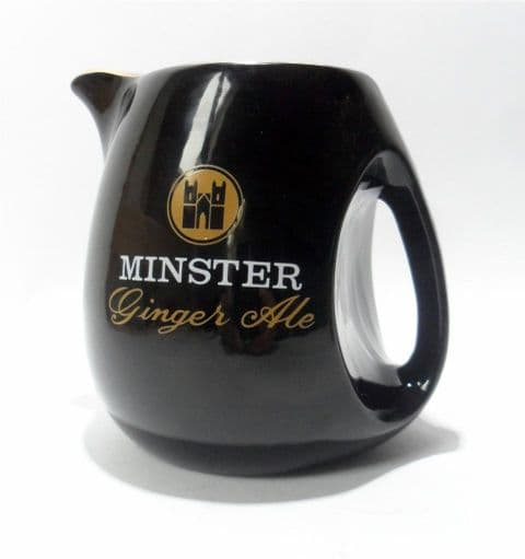 Vintage Pub Bar Minster Ginger Ale Advertising Pottery Water Jug Wade Regicor London England 1960s