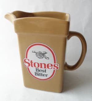 Vintage Pub Bar Stones Best Bitter Advertising Pottery Water Jug Wade Pdm England  Circa 1980s