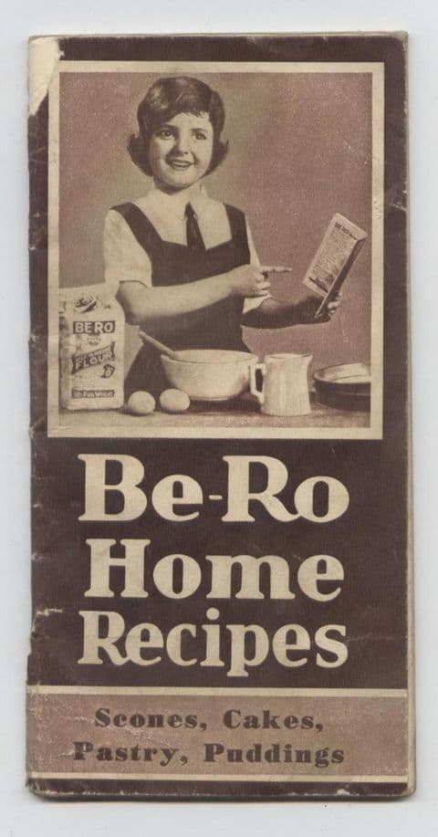 Vintage Recipe Cookery Book Be-Ro Bero Flour Home Recipes 21st Edition Circa 1950s Scones Cakes Puds
