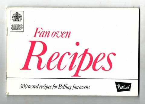 Vintage Recipe Cookery Book Belling Enfield Fan Oven Book 300 Tried & Tested Recipes Electric 1970s