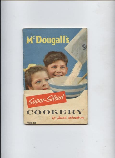 Vintage Recipe Cookery Book McDougall's Super-Sifted Cookery by Janet Johnston, Circa 1950s