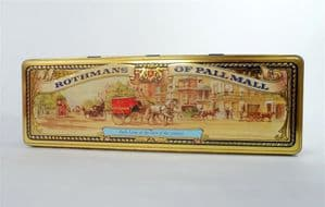 Vintage Rothmans of Pall Mall 'Park Lane at the Turn of the Century' Cigarette Tin 1970s Coach Horse