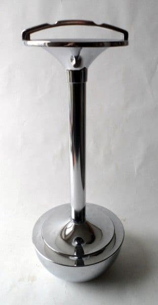 Vintage Smoking Ianthe Smokers Stand Ashtray Ash Tray Chrome Circa 1950s Weighted Base Patent Des Reg