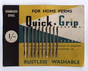 Vintage Stainless Steel Quick Grip George Goodman Birmingham Kirbigrip on Original Card Home Perm