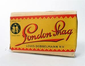 Vintage Tobacco Packet Box Tin London Shag Louis Dobbelmann NV Tax Seal Pipe Smoking Full Sealed 50g