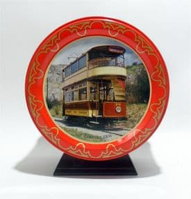 Vintage Toffee Tin Rowntree Mackintosh York Quality Street Trams Tramway Museum Crich Matlock 1970s