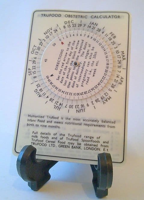 Vintage Trufood Infant Weight Obstetric Calculator Slide Rule Circa 1950s Midwifes Baby Babies