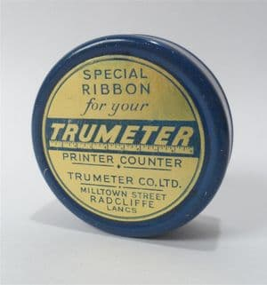 Vintage Trumeter Radcliffe Lancashire Printer Counter Special Ribbon Tin  Measuring Surveying