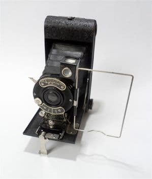 Vintage Vintage All Distance Pocket Ensign Model No 1 E20 120 Roll Film Folding Camera Circa 1930s