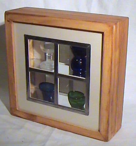 Vintage Visual from Retonthenet Blue Green Clear Eye bath in Pine Window Box Ideal Gift Optician Med