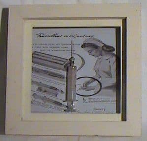 Vintage Visual from Retonthenet Medical Syringe in Frame Penicillin Advert Ideal Gift Nurse Doctor