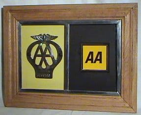 Vintage Visual from Retonthenet The AA Badge Contrast Frame Classic Retro Car Automobilia
