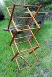 Vintage Washing Laundry Small Wooden Concertina Clothes Maiden Horse Airer Circa 1960s Childrens Childs Tradesman Sample Display