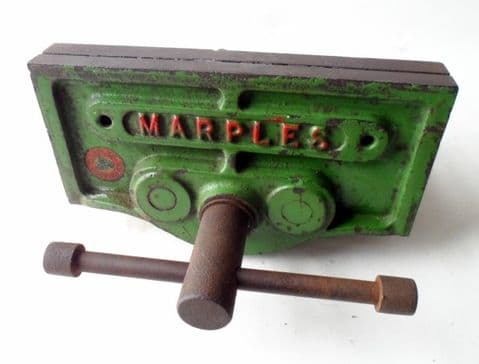Vintage Wood Working Tool Marples Sheffield England Woodworkers Bench Vice Green Shed Garage