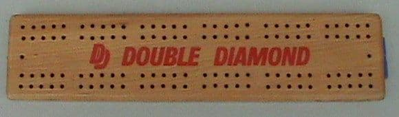Vintage Wooden Wood Advertising Double Diamond DD Ale Pub Crib Cribbage Board Card Game Circa 1960s