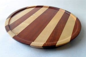 Vintage Wooden Wood Cambridge Ware Tray OA Circa 1950s Different Laminated Woods