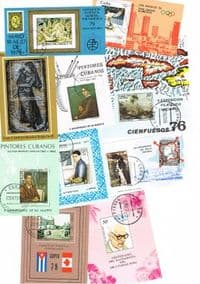 10 different Cuba Souvenir and Miniature Sheets packet