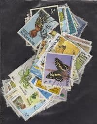 100 different Botswana packet