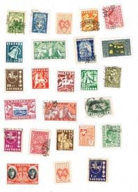 25 different Lithuania (pre 1940) packet