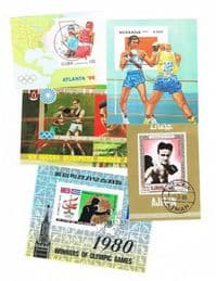 5 different boxing miniature sheets packet