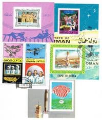 5 different Oman Souvenir and Miniature Sheets packet
