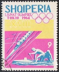Albania SG850 1964 Olympic Games, Tokyo (4th issue) 9l fine used