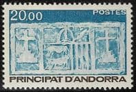 Andorra (French POs) SG F352 1984 Definitive 20f mounted mint