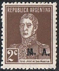 Argentina SG OD37A 1924 Departmental Official MA 2c mounted mint