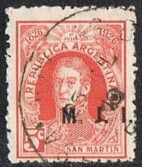 Argentina SG OD44E 1926 Departmental Official Stamp MJI 5c good/fine used