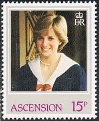 Ascension SG323 1982 21st Birthday of Princess of Wales 15p unmounted mint