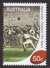Australia 2008 Australian Football 1v set unmounted mint